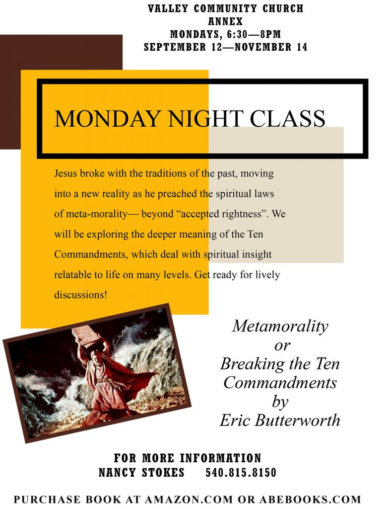 09-2016-Monday Night Class